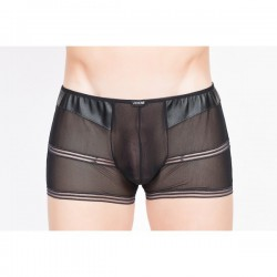 Boxer Hunter Transparent Simili Cuir